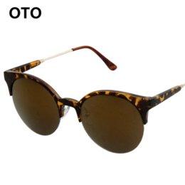 Wholesale Lunettes Cat Eyes - OTO Women Round Sunglasses Alloy Frame Men Vintage Sun glasses Lunettes De Soleil Des Femmes Sunglass Gafas De Sol Hombre T024