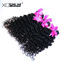 Wholesale Cheap Good Mongolian Hair - Cheap 7A 30Inch Hair New Hair Products Peruvian Deep Wave 4pc Brazilian Hair Deep Wave Dyed Crochet hair extensions WholeSale Good Quality