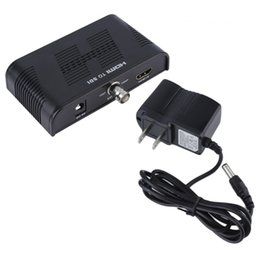 Wholesale Hd Sdi Hdmi Converter - Mini 3G HDMI to SDI Converter 1080P SDI 3G-SDI HD-SDI to HDMI Adapter Black US Plug