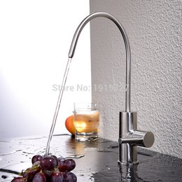 Wholesale Best Filtered Water - Wholesale- Best Modern Brushed Nickel Single Handle Kitchen Sink Dispenser Drinking Water Filter Faucet Stainless Steel Filtration Faucet