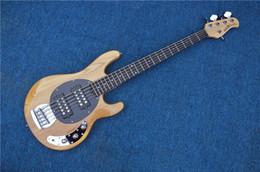 negozio personalizzato di chitarre a sinistra Sconti Custom Shop 5 corde basso elettrico naturale Elm corpo sinistro disponibile
