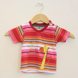 Wholesale Monkey Boy Top - New arrival cotton monkey boy top tee short children T shirt Clothing Kids Fashion Striped short Sleeve