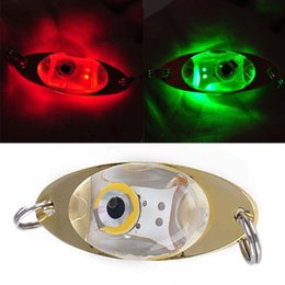 Wholesale Led Deep Drop Underwater - Flash Lamp LED Deep Drop Underwater Eye Shape Fishing Squid Lure Light free shipping