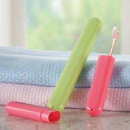 Wholesale Toothbrush Rack Portable - Super Deal Portable Trip Toothbrush Protection Tube Camping Bathroom Accessories Box