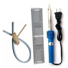 Wholesale Soldering Head - Topcartool OBDDIY 1pc for BMWcar E38 E39 X5 MID Radio Ribbon Cables 1set Soldering Iron T-Tip T-Head Rubber Cable