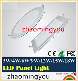 2019 lampade da cucina TU 3W 4W 6W 9W 12W 15W 18W LED da incasso a soffitto da incasso quadrato / rotondo lampadina a pannello AC110V 220V Caldo / freddo bianco, illuminazione da interno