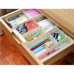caja plegable de tela Rebajas Ajustable bricolaje rejilla cajón divisor del hogar organizador de almacenamiento de la tablilla