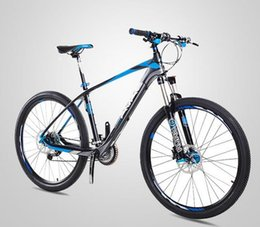 Wholesale Carbon Fiber Disc Frame - 2016 new style free shipping wholesale 27 speed double disc brake carbon fiber frame material mountain bike