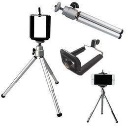 Wholesale family cell - Self-timer Telescopic Tripod Mount Holder Clip For Cell Phone Family Photos