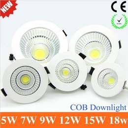 Wholesale Launch Leads - New Product Launch Recessed LED COB Downlight 5W 7W 9W 12W 15W 18W LED Spot light led Ceiling Lamp Wide AC 85-265v