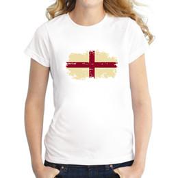 frauen england flagge Rabatt Sportfans jubeln Frauen-T-Shirt England-Staatsflagge-Baumwollnostalgischem England-Flaggen-T-Shirt für Frauen-Sommer-Kleidung zu