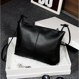 Wholesale Good Contracts - Wholesale-Mini inclined shoulder bag good quality PU leather shoulder bag pure color leisure messenger bag contracted but not simple Z-282