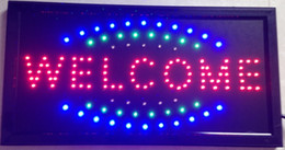 Wholesale Led Open Outdoor Sign - 2016 Direct Selling 10x19 Inch Semi-outdoor Ultra Bright flashing led shop open welcome sign led billboards Wholesale