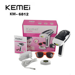 Wholesale Permanent Removal - KEMEI KM-6812 Photon Hair Removal Device Laser Epilator Permanent hair reduction for full Body Hair Removal Laser Epilator EU Plug