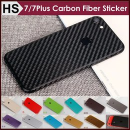 Wholesale Carbon Fiber Skin Stickers - Carbon Fiber Full Body Sticker For iPhone 7 Plus 6 6S Luxury Business Front+Back+Bumper 360 Degree Wrapped Skin Protetor Wholesale