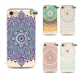 Wholesale Protect Mobile Phone - Phone Case for iPhone 7 Colored Drawing Flower TPU Mobile Protect Shell Cover Vintage Art Design