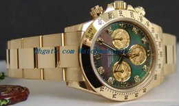 Wholesale 18kt Gold Watches - LUXURY WATCH Stainless Steel Bracelet 40mm 18kt Gold Mother of Pearl Diamond - 116528 Mechanical MAN WATCH Wristwatch