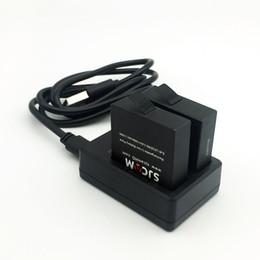 Wholesale Rechargable Cameras - Freeshipping SJ6 Legend 2PCS 3.8V 1000mAh Rechargable Battery+Dual Charger+Wrist Remote Controller For SJCAM SJ6 Legend Action Camera