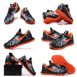 Wholesale Total Rubber - (With shoes Box) 2016 NEW Kevin Durant KD 8 VIII Lmtd LIimited Black-Total Orange Opening Night Hot Sale Men Shoes Free Shipping