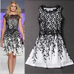 Wholesale Mini Chiffon Shirt - Women's dress summer dresses Lace Casual Dresses print sleeveless T-shirt fashion skirt Mini vintage skirts Wedding plus size dresses