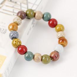 Pulseira cerâmica jingdezhen on-line-Jóias de cerâmica moda europeia e americana rodada pulseira de esmalte leopardo Jingdezhen fábrica de jóias de cerâmica direta mão-tecido