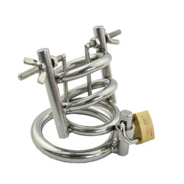 Wholesale Mens Chastity Cages - New Hot Mens Male Chastity Device Belt Urethral Stretching Bondage Fetish B083 #R172
