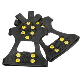 Wholesale Studded Shoes Wholesale - Wholesale-NEW Over Shoe Studded Snow Grips Ice Grips Anti Slip Snow Shoes Crampons Cleats