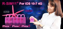 2019 desbloqueio de chip R-sim11 + desbloqueio perfeito para ios10-io7 rsim 11 plus rsim 11 + desbloquear o cartão sim para iphone 7 7 p 6 plus 6 s 5 s suporte lte 4g 3g sprint tt
