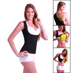 Wholesale Slimming Belt Body Sculpting - Cami Hot Shapers Women Sexy Shaper Shirt Neoprene Slim Belt Body Sculpting Fitness Vest Thermo Redu Shapers Slimming Shaper Sport Shirt