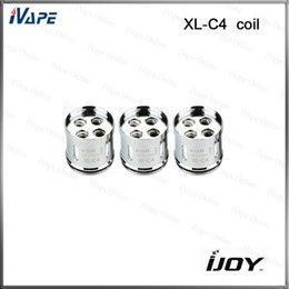 Wholesale C4 Atomizers - iJoy Limitless XL-C4 Light-up Chip Coil 0.15ohm Relacement Coils Heads With Light for Limitless XL Atomizer 1PC=1Coil 100% Original