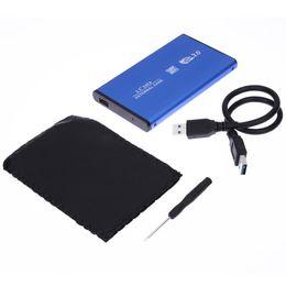 Wholesale external case enclosure - High Speed USB 3.0 SATA 2.5 inch USB 2.0 External HDD Hard Disk Drive HD Enclosure   Case Box Aluminum SATA Hard Drive Enclosure