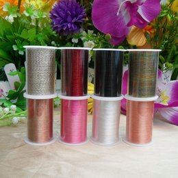 Wholesale Painting Articles - DHL & SF EXPRESS Assorted Color Polyester Sewing Thread Red Black Brown White Pink Multi-color Sewing Thread 100%Polyester Sewing Thread