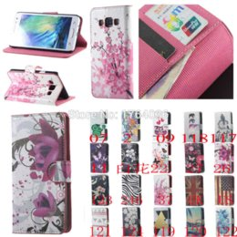 Wholesale Phone Case Lg L5 - HOT!Colorful Folwer Wallet Leather Case For LG Optimus L5 II E460 Case Flip Card Slots Phone Cases For LG E460 Capa Cover Fundas