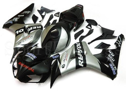 Wholesale Honda Repsol Cover - 3 Gifts+Cowl+Tank cover New ABS Injection Fairings set For HONDA CBR1000RR 2006 2007 CBR 1000 RR 06 07 hot sales silver black repsol