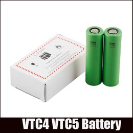 Wholesale electronic cigarette mod mech - Battery VTC5 18650 Battery US18650 Li-on Battery VTC4 fit All Electronic Cigarettes V6 Nemesis Manhattan Mech Mod