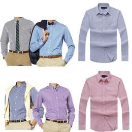 Wholesale Slim Fit Designer Shirts Men - European size Fashion Brand Striped Shirt Men Long Sleeve Slim Fit Formal Business Male Casual Designer Cotton Dress Shirt Plus Size 2XL