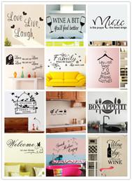 12 Stili Citazioni Wall Stickers Decal Words Lettering Dire Wall Decor Sticker Vinyl Wallpaper Art Stickers Decalcomanie da carta da parati in stile europeo fornitori
