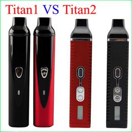 Wholesale Dry Metal - Top quality Hebe Titan 1 2 vaperizer Dry herb Vaporizers e ciga herbal Vaporizer vapor Titan2 1 Vape pens kit with 2200mah battery