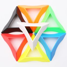 Wholesale Pop Cubes - New 30pcs Pokeball Holder Pop-up Poke Ball Pikachu Stand Magic Cube Bracket Collection Anime Brinquedos Mix Colors Wholesale WD335