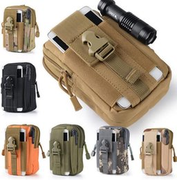 Wholesale Molle Pouch Bag - Universal Outdoor Tactical Holster Military Molle Hip Waist Belt Bag Wallet Pouch Purse Phone Case with Zipper Fanny Pack Pocket KKA2413