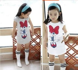 Wholesale Harness Clothing Fashion - clearance baby girls T-shirts,Long style short sleeve T shirt dress,girls dress skirt vest harness dress children T shirts top kids clothing