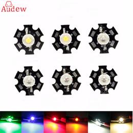 1 Pz 1 W Ad Alta Potenza LED PCB Bordo Lampadina Perline Chip Lampada Lampada Pianta Grow Acquario Dissipatore 12 V Per COB Spot Light da