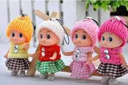 Wholesale Cheap Plastic Baby Dolls - 2016 new Kids Toys Dolls Soft Interactive Baby Dolls Toy Mini Doll For Girls High quality cheap gift free DHL