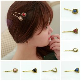 Wholesale indian bang wholesale - Hairpin Korean Hair Accessories Korean Kazi Kazi alloy hairpins side clip hair bangs clip word folder Hairwear Hair jewelry