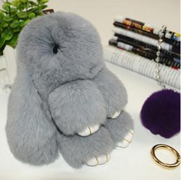 Wholesale Dead Dolls - 2016 New Rex Play Dead Rabbit Key chain 19 Colors Fur Car Backpack Rabbit Doll Pendant Fashion Toys Wallet Handbag Pendant Without Box