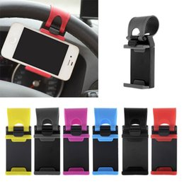 Wholesale Mp4 Covers - hot selling Car Steering Wheel Mount Holder Rubber Band For iPhone For iPod MP4 GPS Mobile Phone Holders car cover without package DHL