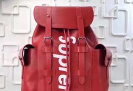 Wholesale Soft Leather Wallets Mens - Designers Brand Name Hottest All Red Wallet Real Leather Backpack For Mens Jiont Limited Handbag Red Black Single shoulder bag M67541