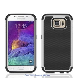 Wholesale galaxy s4 hard - Rugged Durable Impact Shockproof Resistant Double Layer Cover Hard Shell & Silicone Armor Case for samsung Galaxy S4 S5 S6
