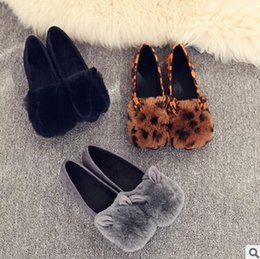 Wholesale Cloth Heels Wholesale - Wholesale women shoes Flats Women Flat heel Shoes Lazy Shoes Soft leather cartoon rabbit ears elastic cloth flat shoes