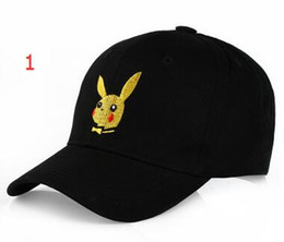 Wholesale Baseball Figures - 2017 New Poke Go Baseball Hat Caps Unisex Women Men Cartoon Action Figure Pikachu Hip Hop Hats Snapback Ball Caps